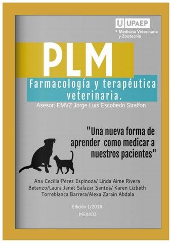 Plm Final Farmacologia Y Terapeutica Vet By Ana Ceci Perez Espinoza Issuu