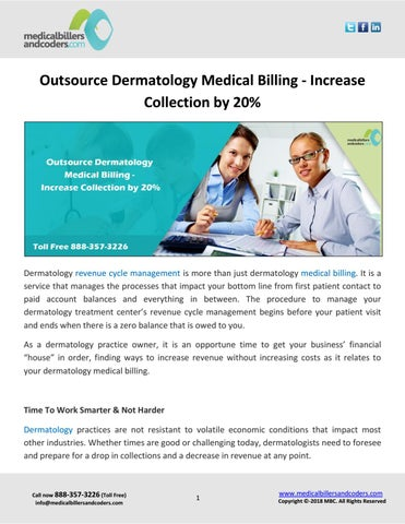 Page 1 of Outsource Dermatology Medical Billing – Increase Collection by 20%