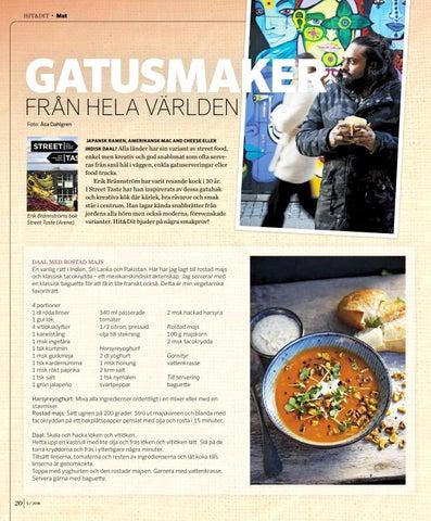 Page 20 of MAT. Gatusmaker från hela världen