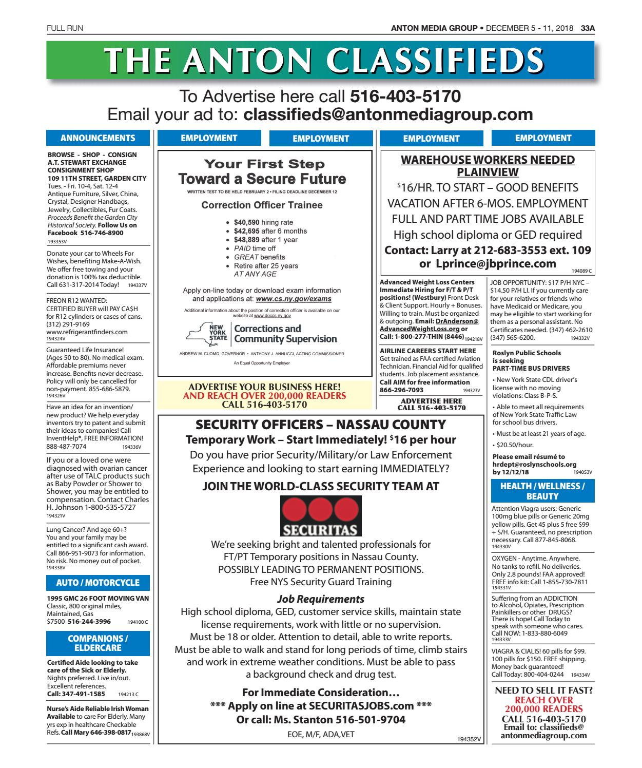 Classifieds 12-05-18 by Anton Community Newspapers - issuu