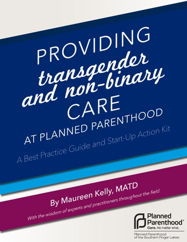 Providing Transgender and Non-Binary Care at Planned Parenthood by