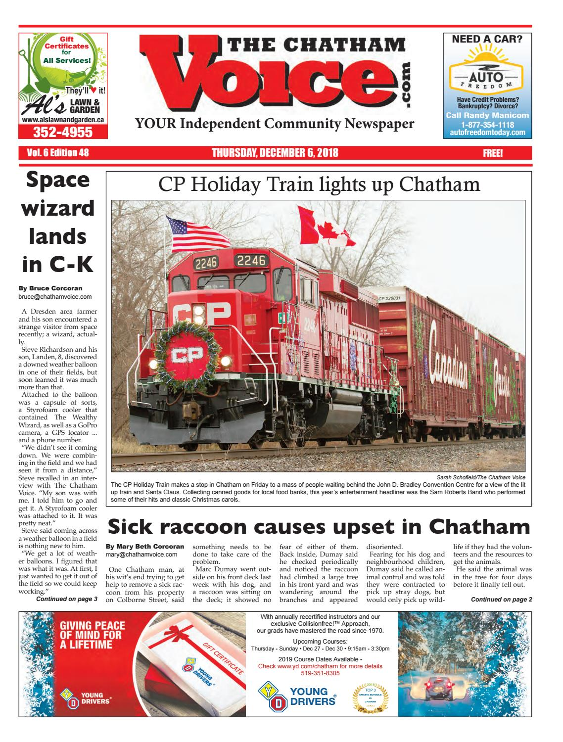 The Chatham Voice, Dec  6, 2018 by Chatham Voice - issuu
