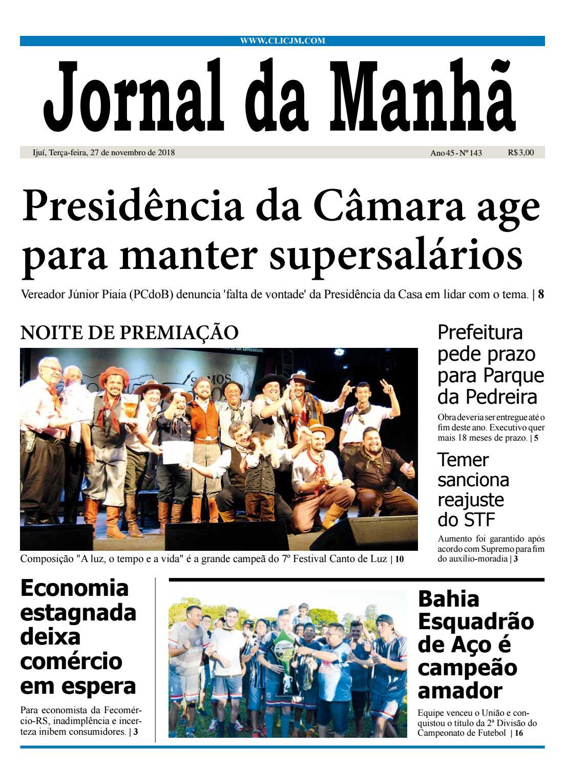 bffa53514cace Jornal da Manhã - Terça-feira - 27-11-2018 by clicjm - issuu