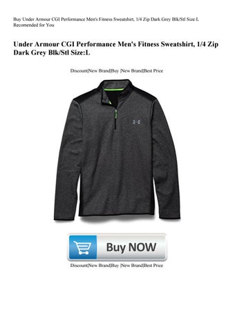 519296b6c20 Buy Under Armour CGI Performance Men s Fitness Sweatshirt 14 Zip Dark Grey  BlkStl SizeL Recomended