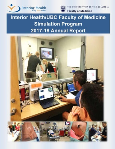 IH UBC Simulation Program Annual Report 2017 2018 By