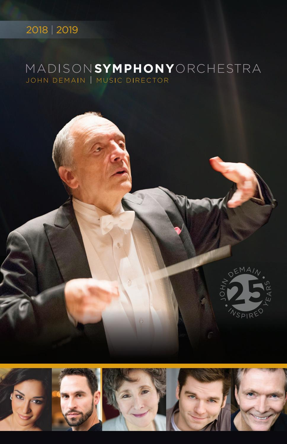 MSO Program Book, Dec 2018/Jan 2019 by Madison Symphony