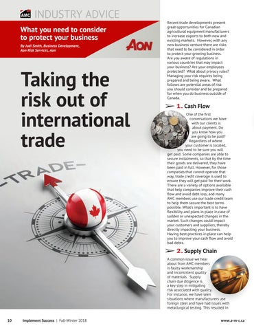 Page 10 of Taking the risk out of international trade