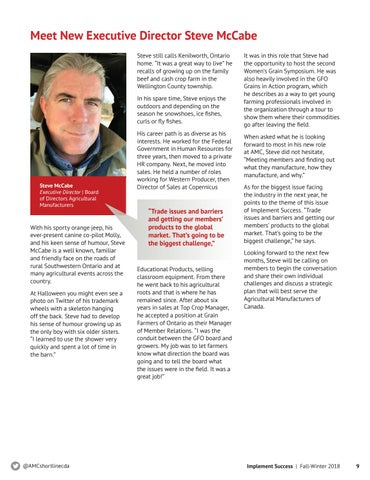 Page 9 of Meet New Executive Directory Steve McCabe