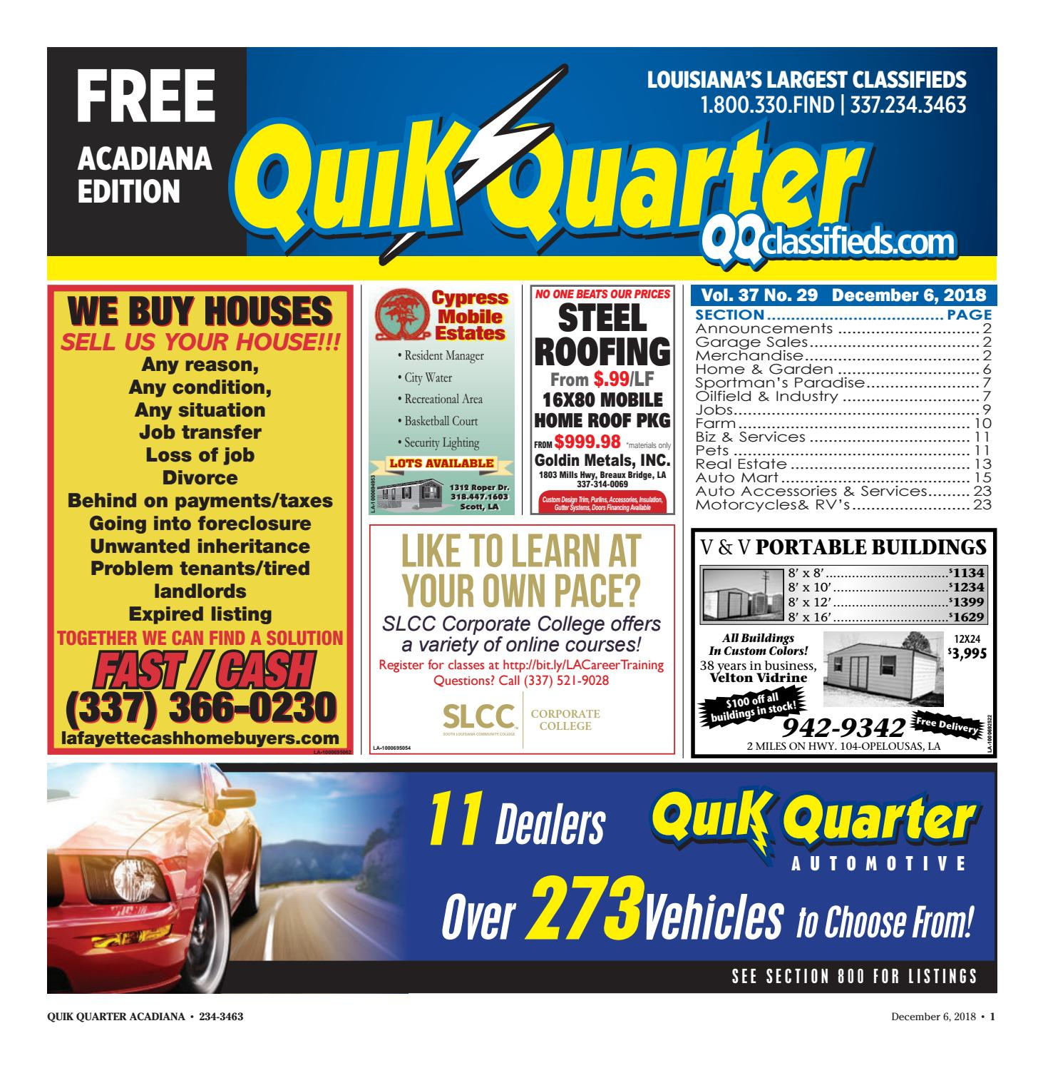 Quik Quarter Acadiana 12 06 18 by Part of the USA TODAY