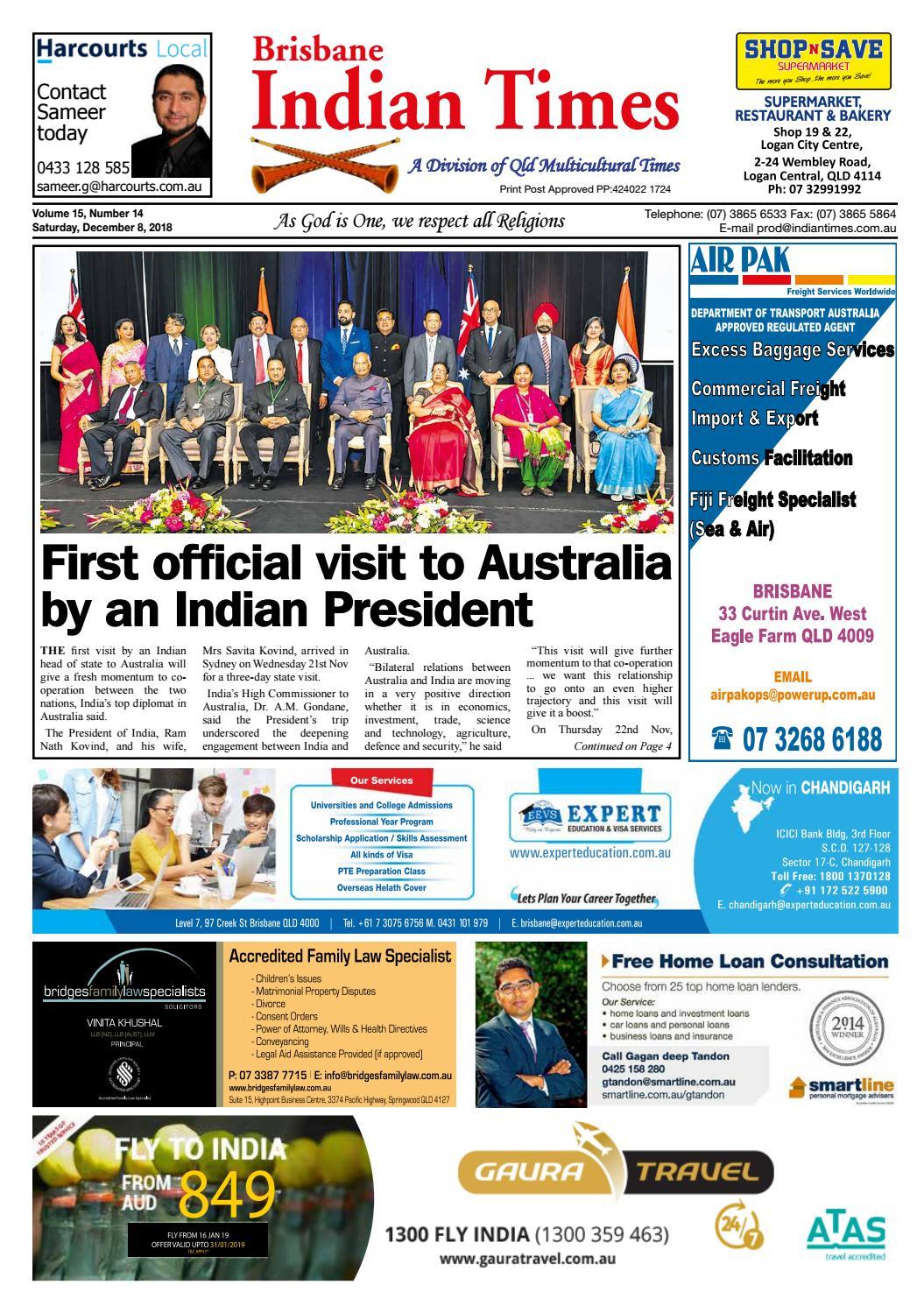 Brisbane Indian Times - December 2018 by Umesh Chandra - issuu
