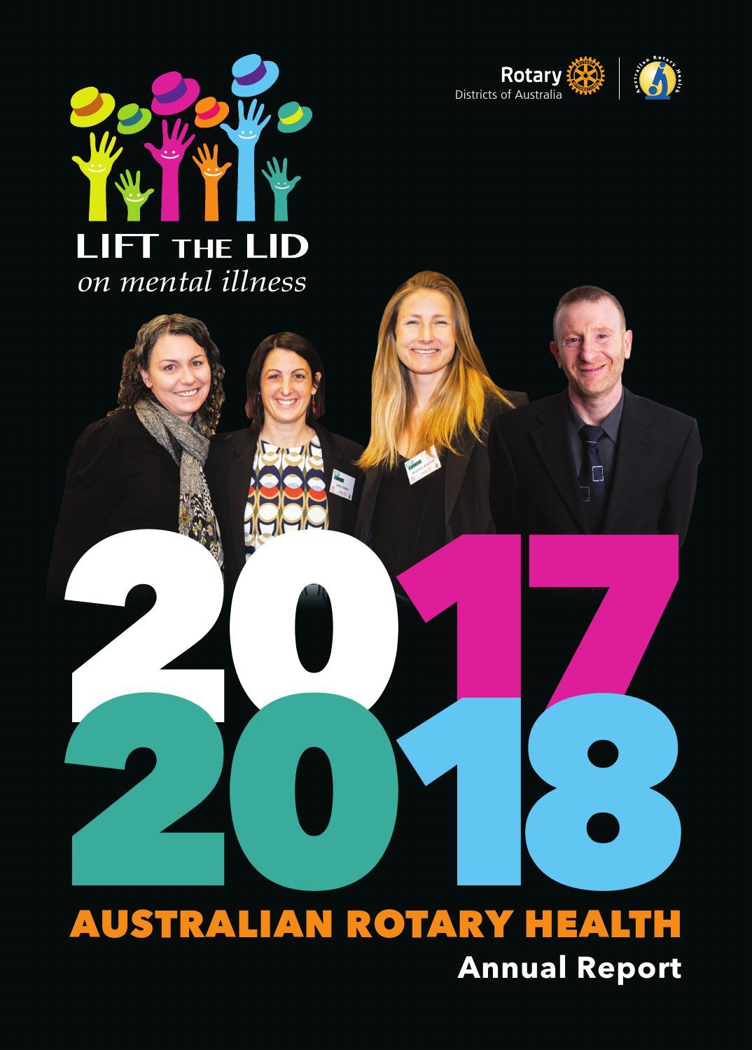 Australian Rotary Health Annual Report 2017-2018 by Australian ... 6eca56ce4
