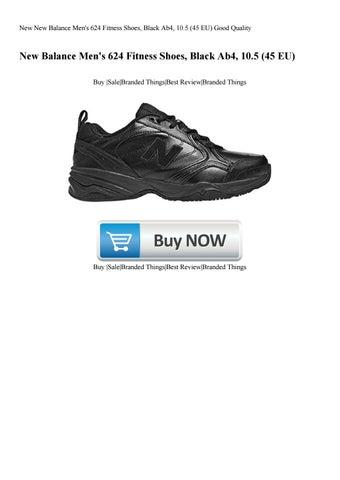 9419d37634d73 New New Balance Men's 624 Fitness Shoes Black Ab4 10.5 (45 EU) Good Quality