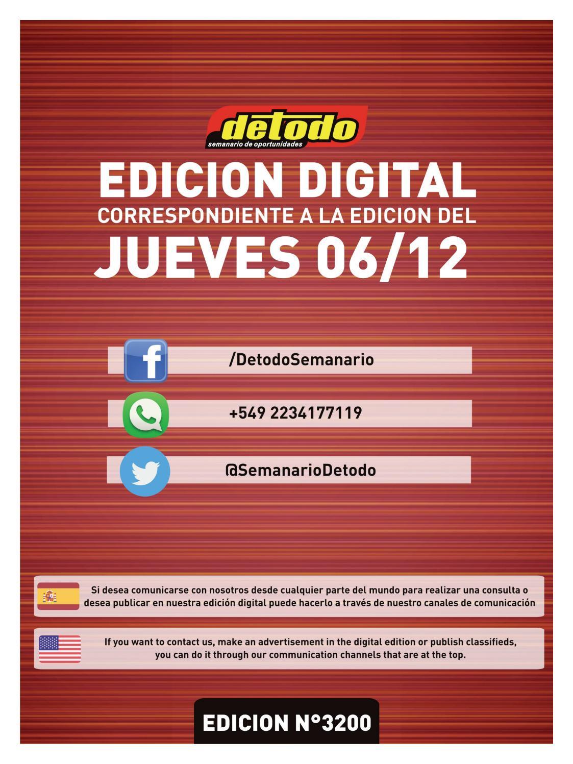 Semanario Detodo Edición N 3200 06122018 By Semanario