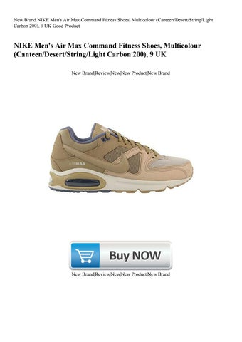huge discount cd91b e94e7 New Brand NIKE Men s Air Max Command Fitness Shoes, Multicolour (Canteen  Desert String Light Carbon 200), 9 UK Good Product