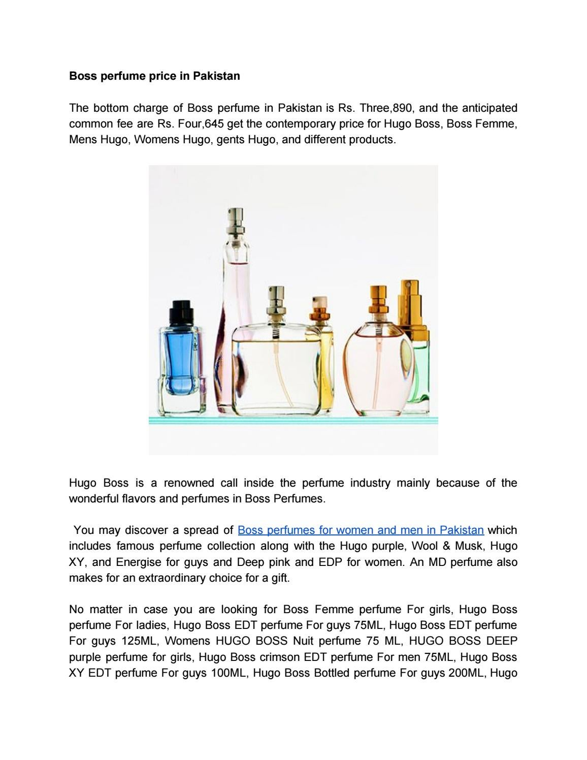 Boss Perfume In Pakistan By Fragrancejohn Issuu