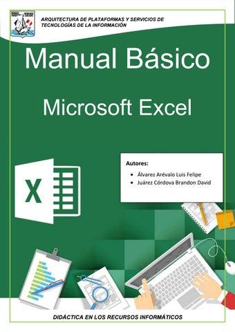 manual excel 2016 pdf basico