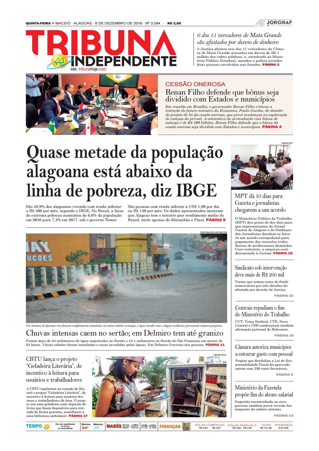 51a2376ab51 Edição número 3284 - 6 de dezembro de 2018 by Tribuna Hoje - issuu