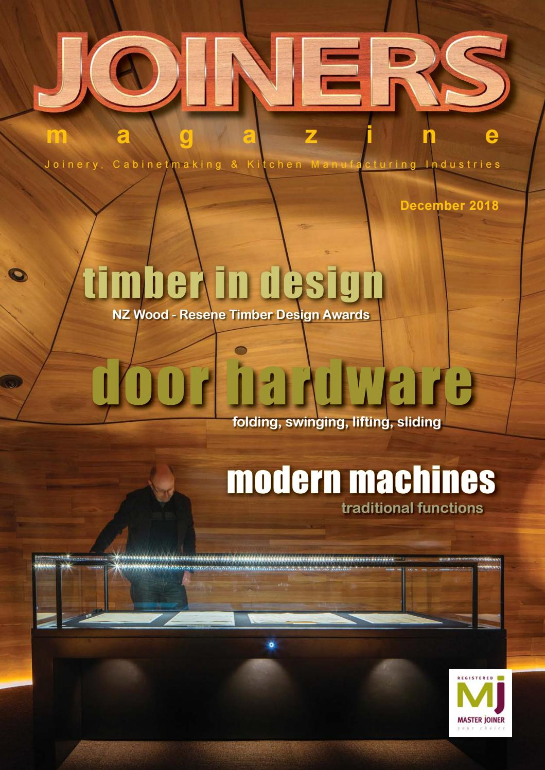 Joiners Magazine December 2018 Issue by Magenta Publishing