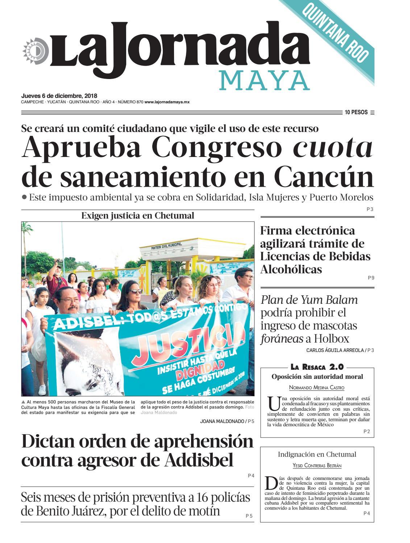 La Jornada Maya Jueves 6 De Noviembre De 2018 By La