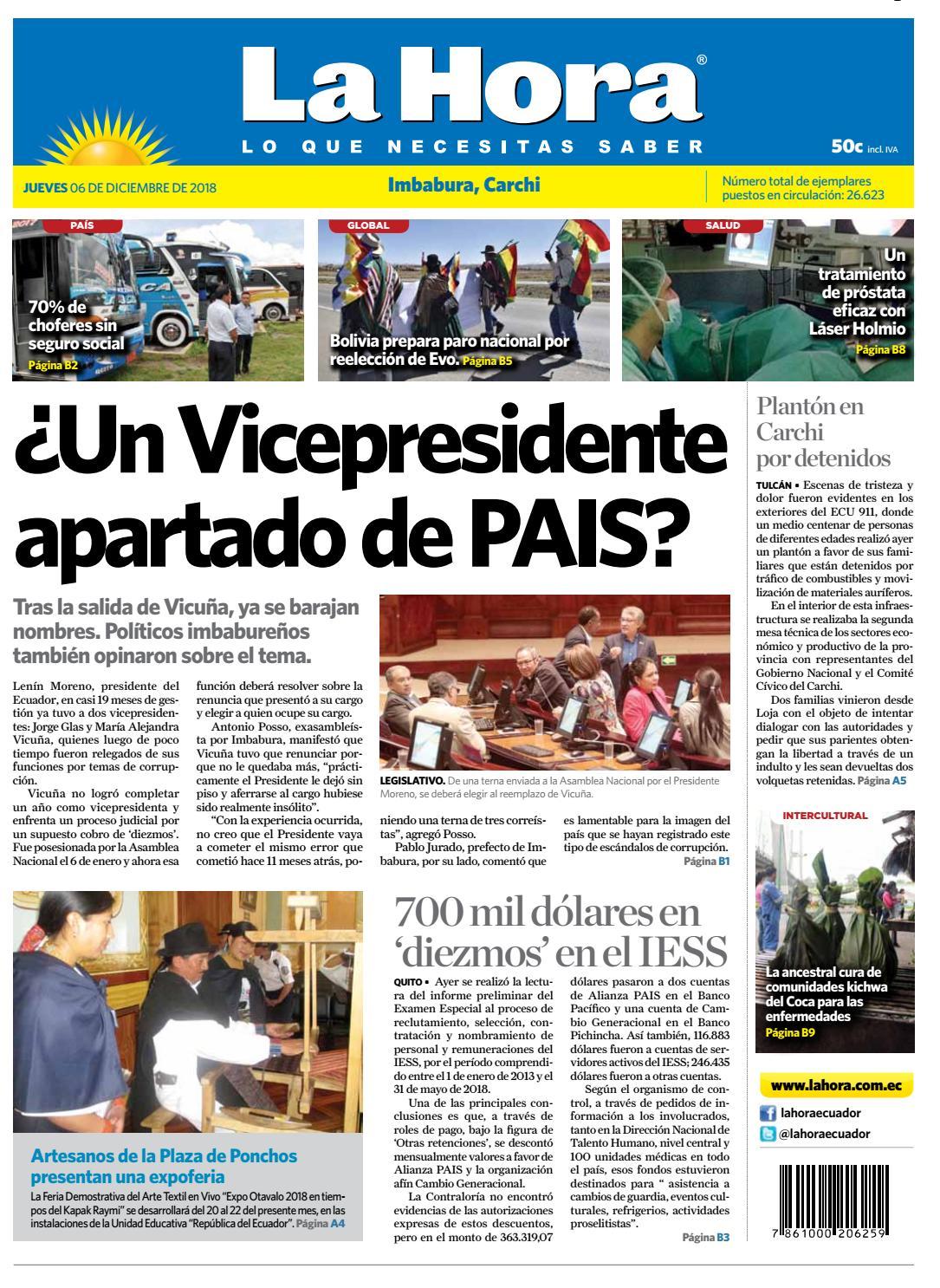 8f8bb061a338b Imbabura 06 de diciembre de 2018 by Diario La Hora Ecuador - issuu