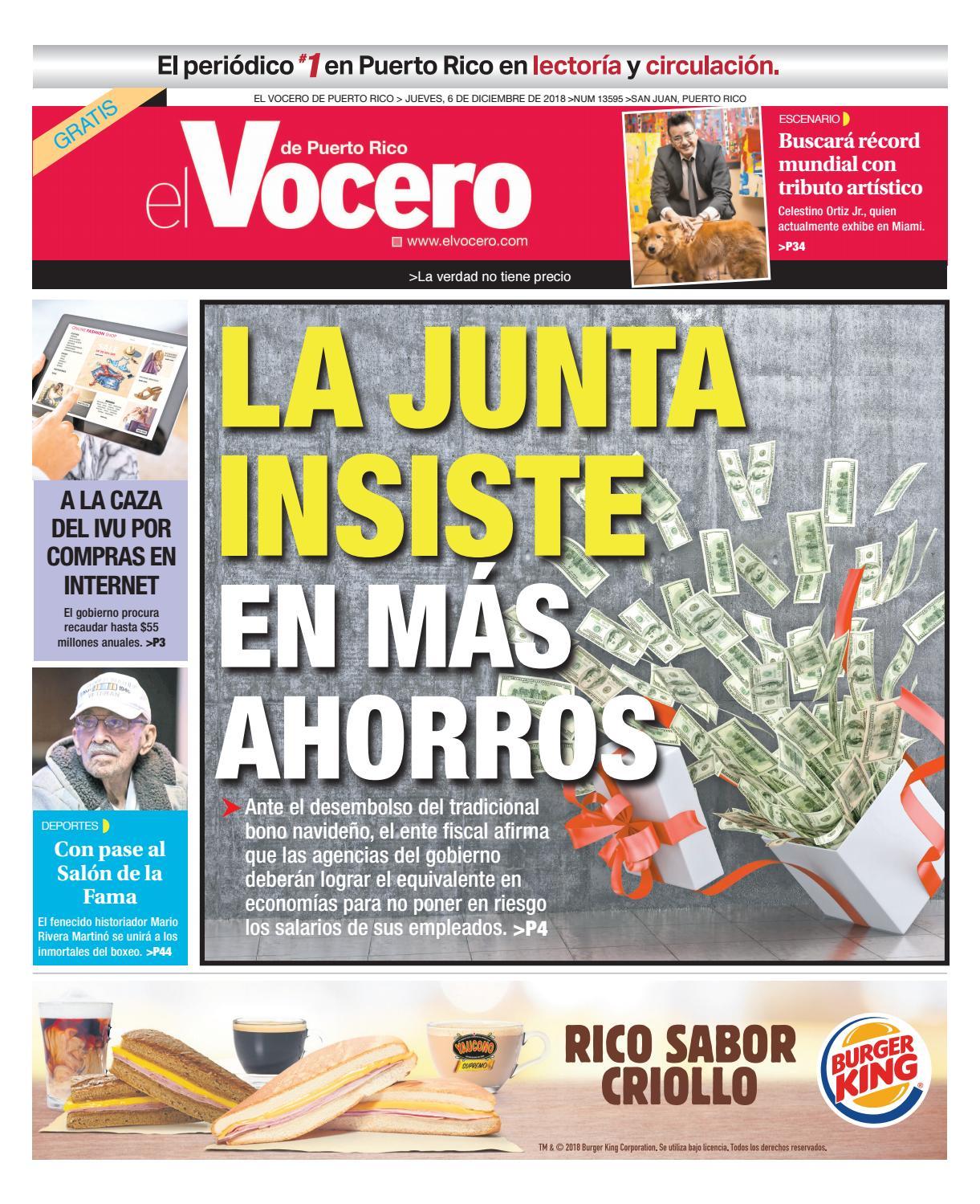 Edición del 6 de diciembre de 2018 by El Vocero de Puerto Rico - issuu 042aedf7e317a