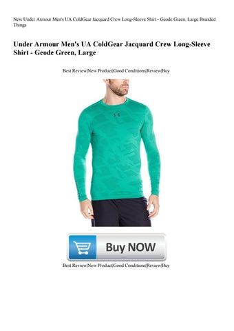 27186ccaf7e New Under Armour Men s UA ColdGear Jacquard Crew Long-Sleeve Shirt - Geode  Green Large Branded Thin