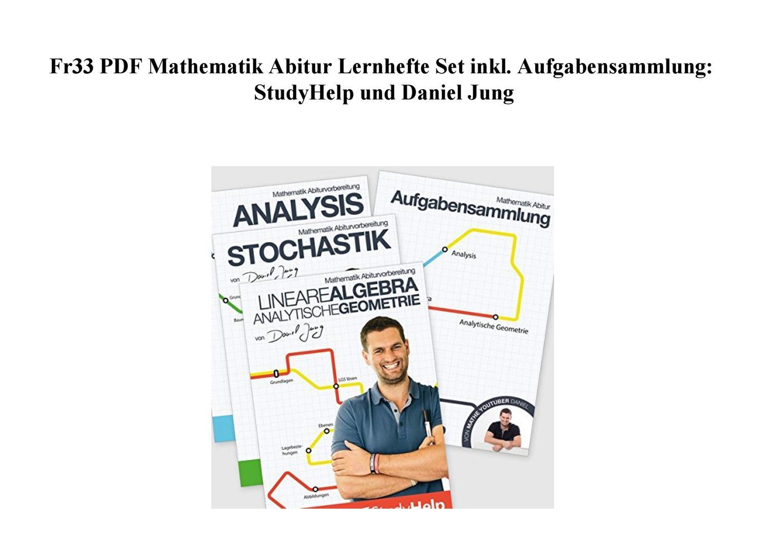 Fr20 PDF Mathematik Abitur Lernhefte Set inkl. Aufgabensammlung ...