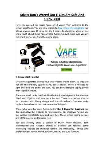 Vape Connection Australia - Issuu