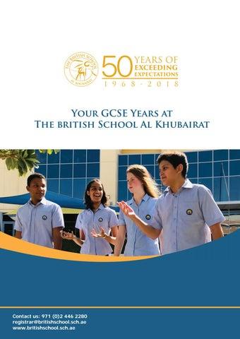 GCSE Brochure 2019 by BSAK Abu Dhabi - issuu