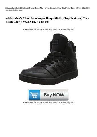 20ac81df7cf3f Sale adidas Men's Cloudfoam Super Hoops Mid Hi-Top Trainers Core ...