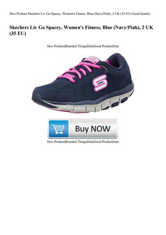 dc3225429 New Product Skechers Liv Go Spacey Women s Fitness Blue (NavyPink) 2 UK (35  EU) Good Quality