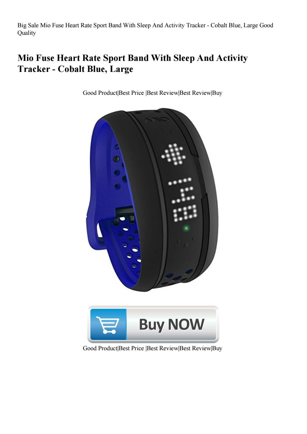 Big Sale Mio Fuse Heart Rate Sport Band With Sleep And