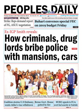 Wednesday November 5 2018 Edition By Peoples Media Limited Issuu