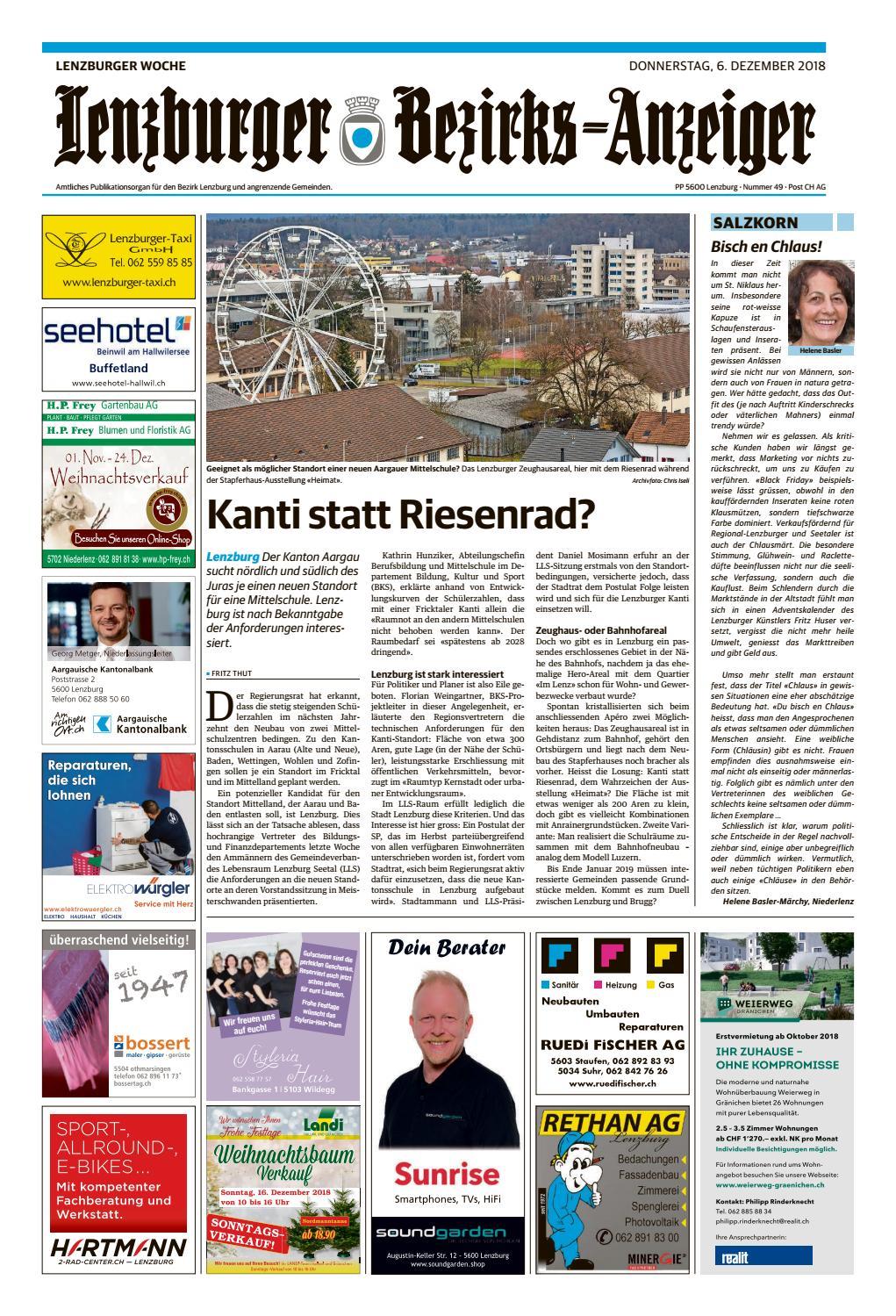 Lenzburger Bezirks Anzeiger By Az Anzeiger Issuu