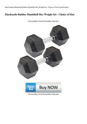 Best Product Hardcastle Rubber Dumbbell Hex Weight Set - Choice of