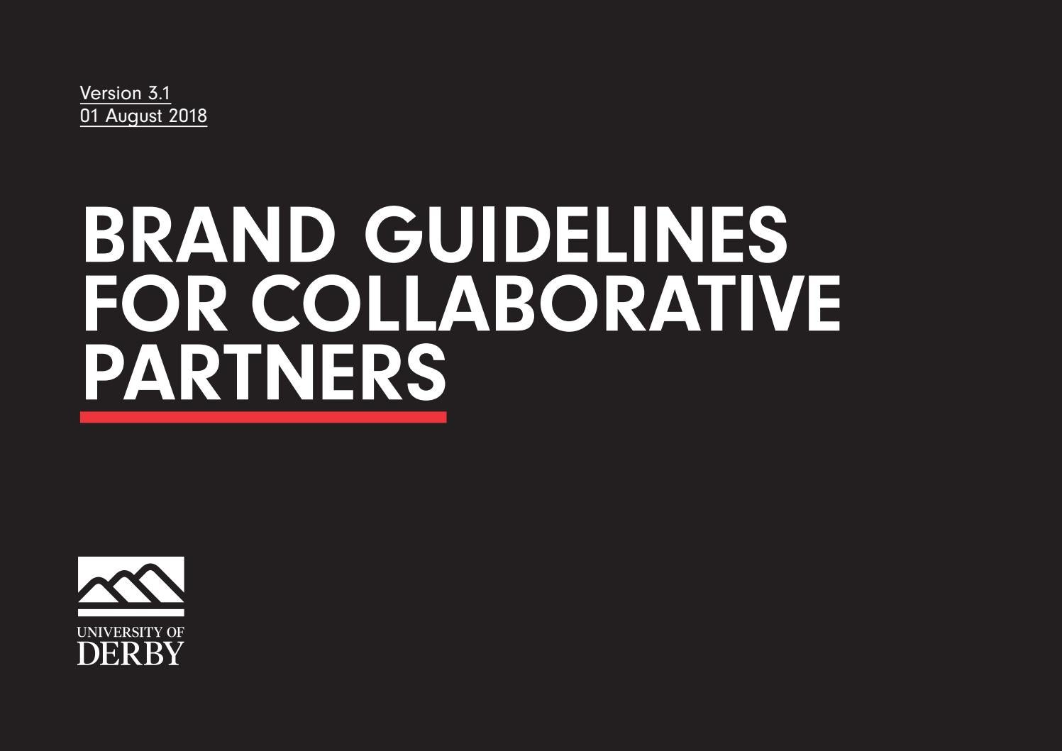 University of Derby Partnership Brand Guidelines by