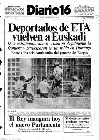 a2a03e8e35 Diario 16. 22-7-1977 by diario16deburgos - issuu