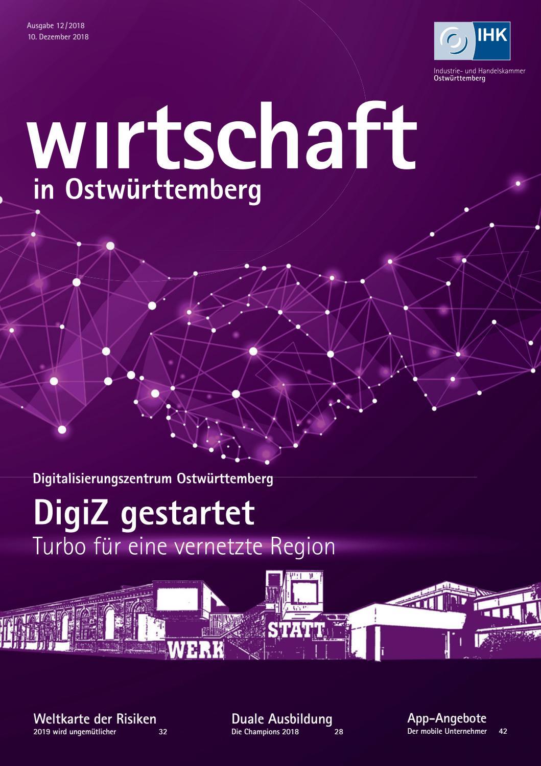 Wirtschaft in Ostwürttemberg Dezember 2018 by
