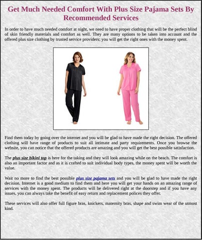 7a62a696a0d Get Much Needed Comfort With Plus Size Pajama Sets By Recommended Services  In order to have much needed comfort at night
