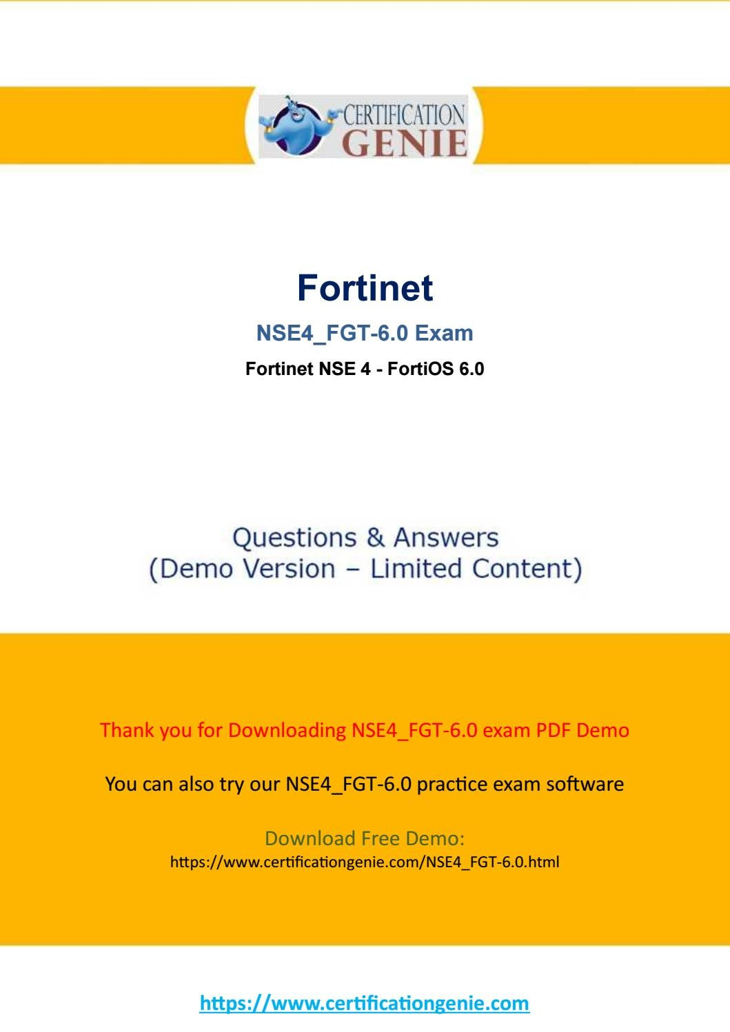 Get valid and latest Fortinet NSE4_FGT-6 0 exam dumps by d
