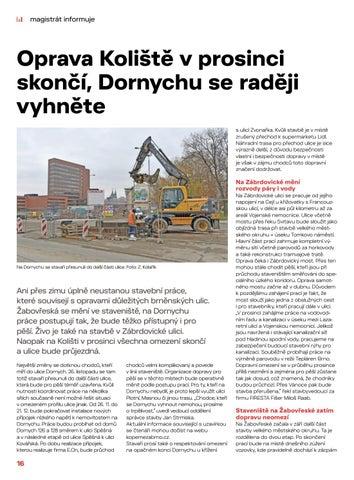 Page 16 of Magistrát informuje: Oprava Koliště v prosinci skončí, Dornychu se raději vyhněte