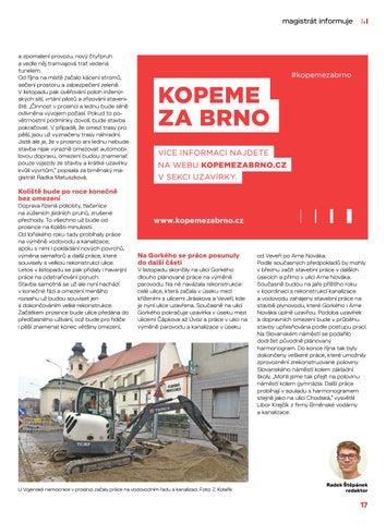 Page 17 of Magistrát informuje: Oprava Koliště v prosinci skončí, Dornychu se raději vyhněte
