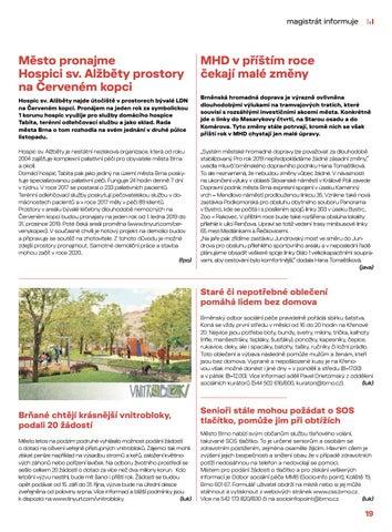 Page 19 of Magistrát informuje: zprávy
