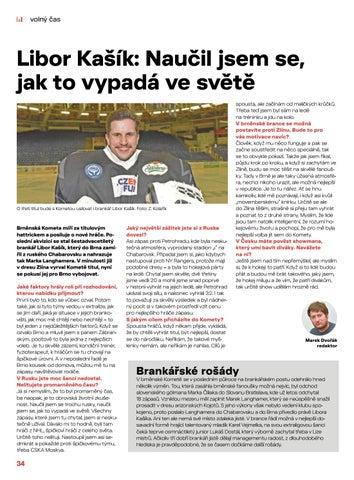 Page 34 of Sport: Naučil jsem se, jak to vypadá ve světě, říká Libor Kašík