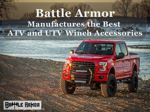 Battle Armor Manufactures the Best ATV and UTV Winch