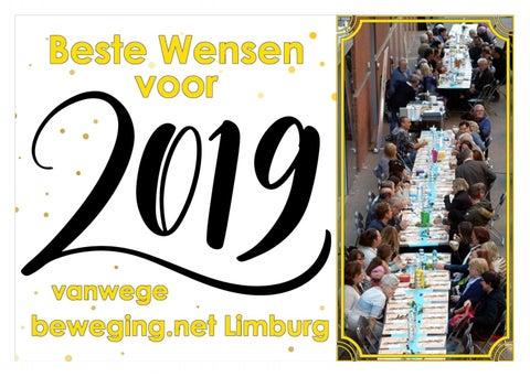 Nieuwjaarswensen 2019 Van Beweging Net Limburg By Beweging Net Issuu