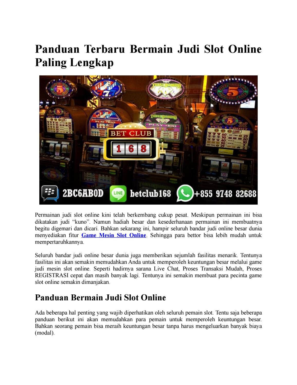 Panduan Terbaru Bermain Judi Slot Online Paling Lengkap By Situs Judi Slot Terbaik Issuu