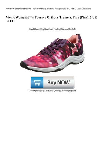 big sale f3a0b 27c1d Review Vionic Women's Tourney Orthotic Trainers Pink (Pink) 5 UK 38 EU  Good Conditions