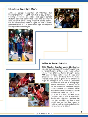 Page 7 of Impact through Lights - Making Global Connections