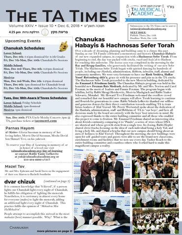 TA Times 10 10 by Yaakov Berkowitz - issuu